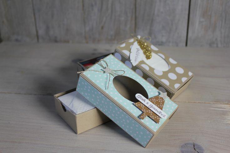 Heute zeige ich Euch in meinem Freitagsvideo, wie man aus Material von Stampin' Up! eine schöne, stilvolle Taschentücherbox basteln kann.