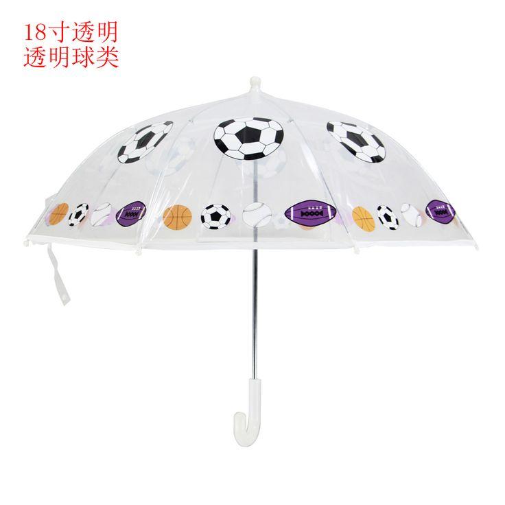 2 7age высокое качество дети студенты мальчик девочка зонтик мультфильм футбол творческий мультфильм длинной ручкой зонтик купить на AliExpress