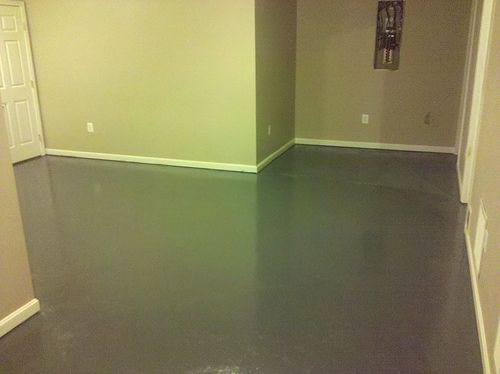 1000 ideas about painted basement floors on pinterest basement flooring basements and. Black Bedroom Furniture Sets. Home Design Ideas