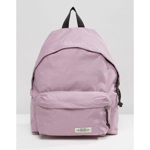 Eastpak Padded Pak'r Backpack in Pink (€57) ❤ liked on Polyvore featuring bags, backpacks, pink, eastpak, knapsack bag, eastpak rucksack, eastpak bags and day pack backpack