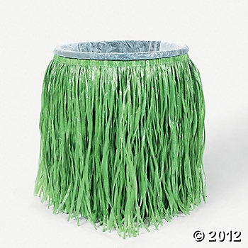 Hula Skirt Trash Can Cover--Oriental Trading