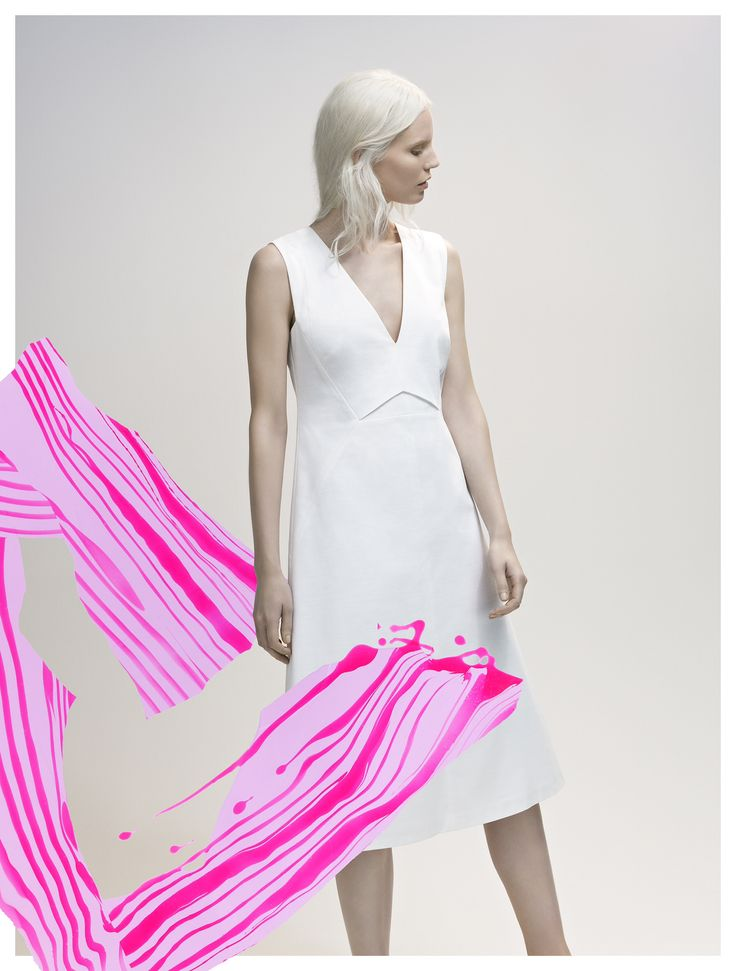 White texture in an A-Line dress