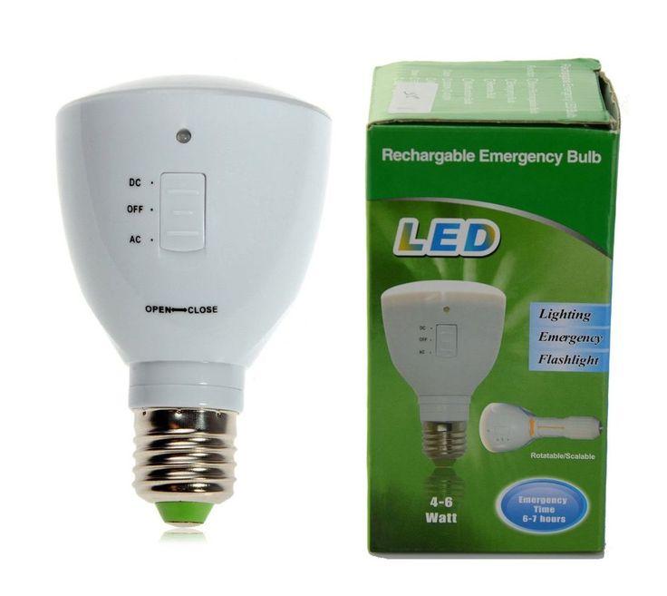 Multifunctional LED Light Bulb E27 5W Rechargeable Portable Emergency Light Bulb #Anpress