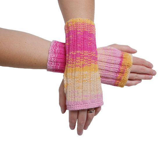 Simple Arm Warmers Legwarmers Arm with Thumbhole Knit Spring Summer Leader