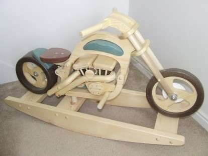 41 best rocking horse plans images on pinterest rocking for Woodworking plan for motorcycle rocker toy