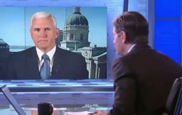 Journalist Interrupts and Peppers Him With Questions, but Gov. Mike Pence Refuses to Back Down on 'Religious Freedom' Law