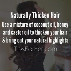 how to thicken your hair