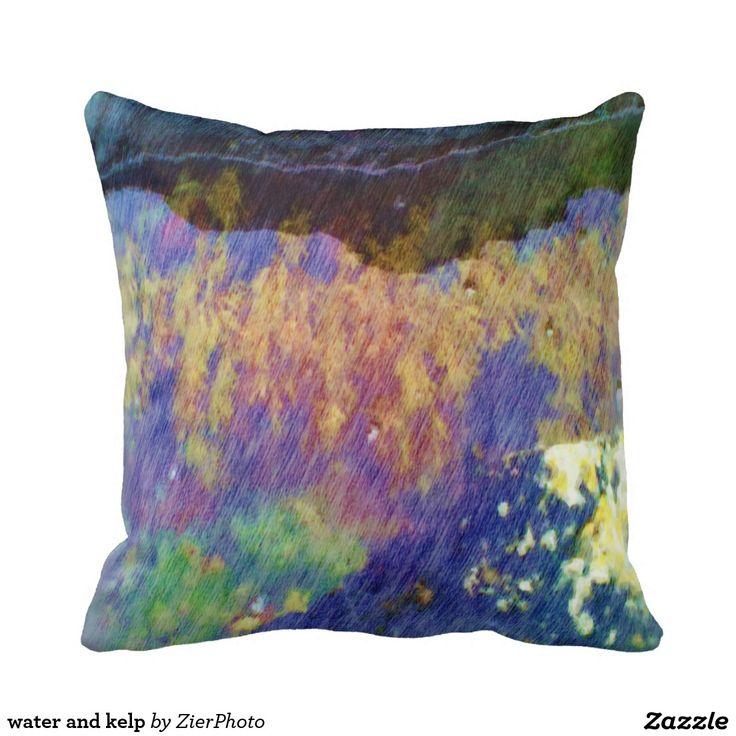 water and kelp pillow