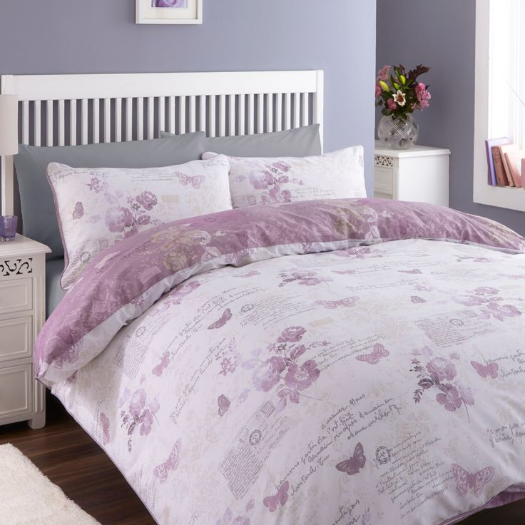 Chartwell Lilian Wisteria Butterfly Double Bed Cover Set | Departments | DIY at B&Q