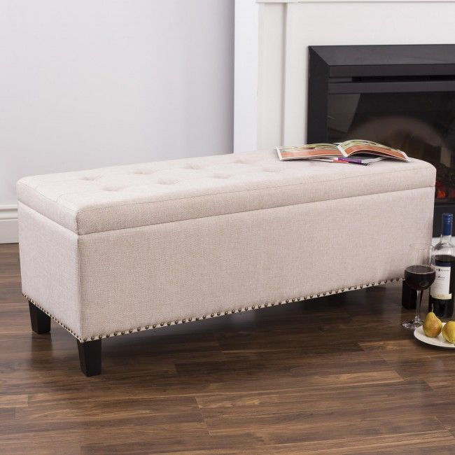 Add extra storage and extra seating to any room in your home with our stylish and attractive Whitney Upholstered Storage Bench. These sturdy and comfortable storage benches feature an attractive upholstered exterior with a padded seat and open up to reveal a large storage space for magazines, blankets or anything else you want to keep handy without cluttering up your home!