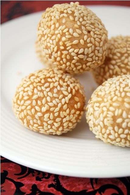 Chinese sesame balls, these are one of my favorite desserts