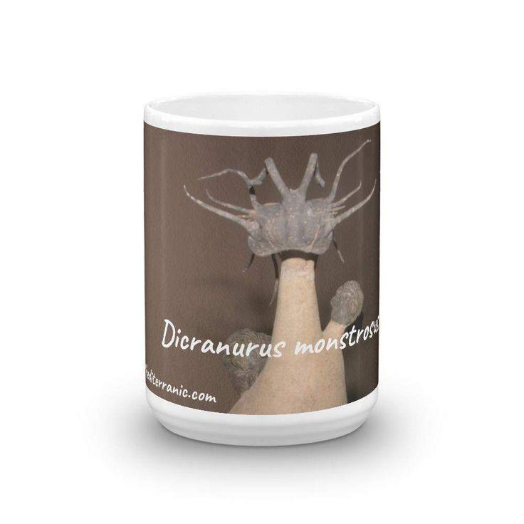 COFFEE WITH TRILOBITES! Dicranurus monstrosus Fossil Trilobite 11oz/15oz Mug Mediterranic.com