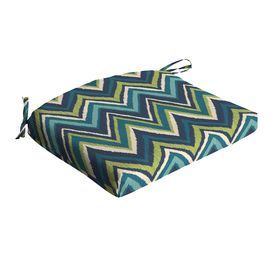 Garden Treasures Blue Flame Stitch Geometric Seat Pad For Universal Ad