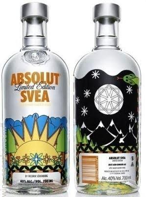 Absolut Svea Apple Ginger Flavored Vodka, Sweden