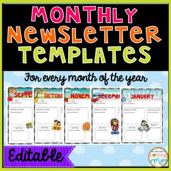 Best  Monthly Newsletter Template Ideas On   Weekly
