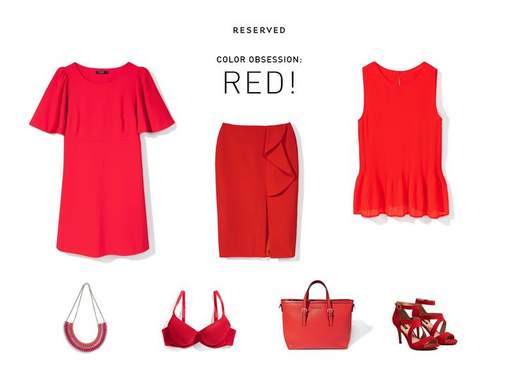 So Red! Reserved 16' #red#top#skirt#bag