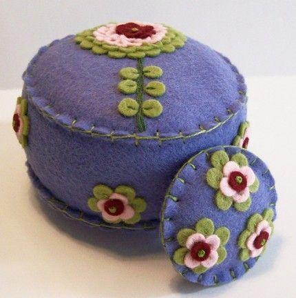 Wool felt pincushion