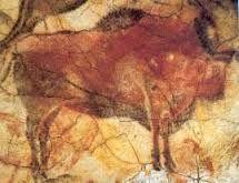 Bisonte (particolare); datazione: 15 000-12 000 a.C. tecnica: dipinto rupestre luogo: grotta di Altamira, Spagna
