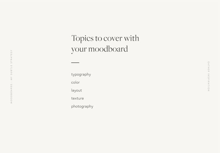 Moodboards: My Subtle Strategy | Wayfarer Design Studio Wayfarer Design Studio