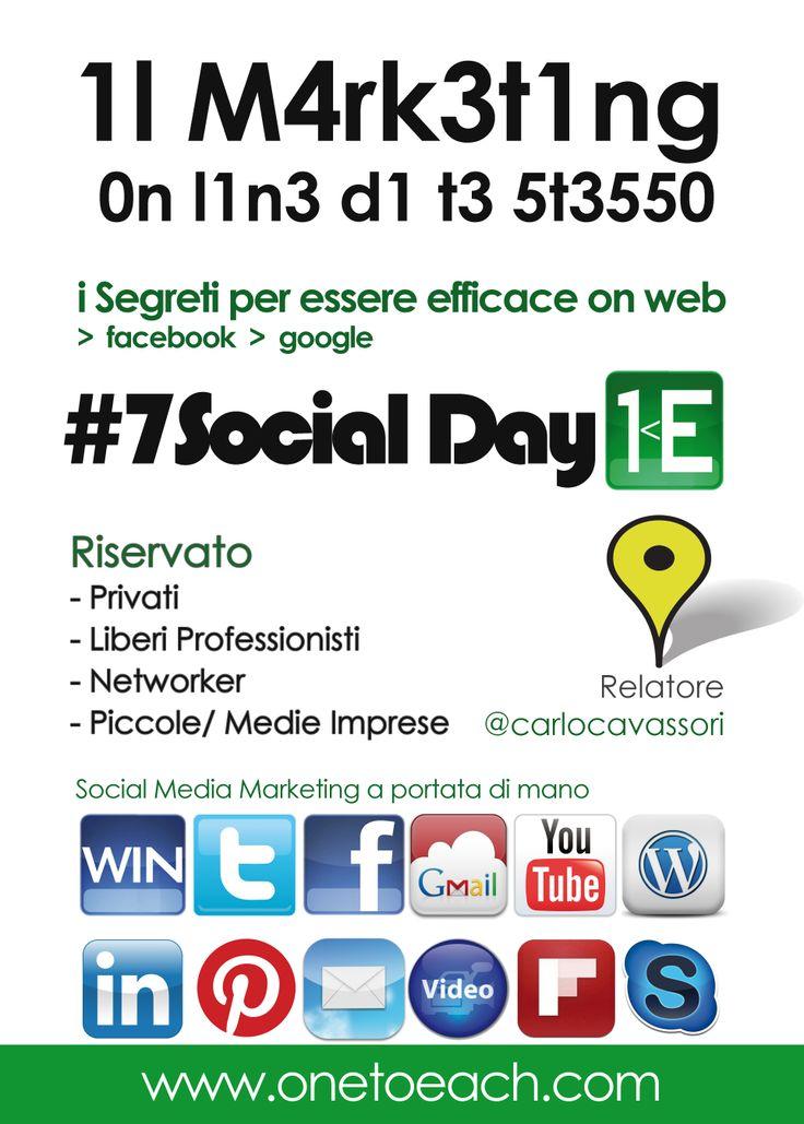 Laboratorio #socialmediamarketing  2Marzo SanGiovAlNat #7socialday Il #marketing on line di te stesso