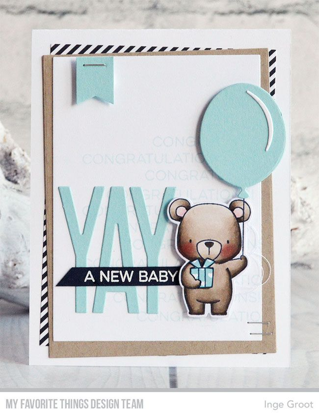 card critters bear MFT beary special birthday Die-namics MFT balloon Die-namics #mftstamps MFT Yay For You Card Kit Day 1