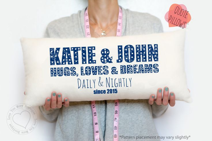 2 Year Wedding Anniversary Ideas Cotton : year cotton anniversary, hugs, loves, and dreams, decorative pillows ...