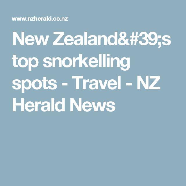 New Zealand's top snorkelling spots - Travel - NZ Herald News