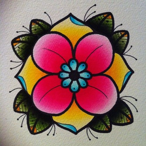 Flower Detail Tattoo Flash   KYSA #ink #design #tattoo