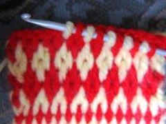 tunisian crochet - 2 color stitch variation - interesting pattern        ♪ ♪ ... #inspiration #crochet  #knit #diy GB  http://www.pinterest.com/gigibrazil/boards/