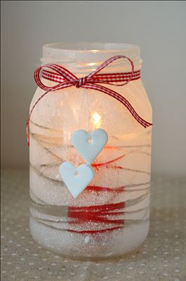 Could use snow flakes or holly berries instead of hearts for Christmas time