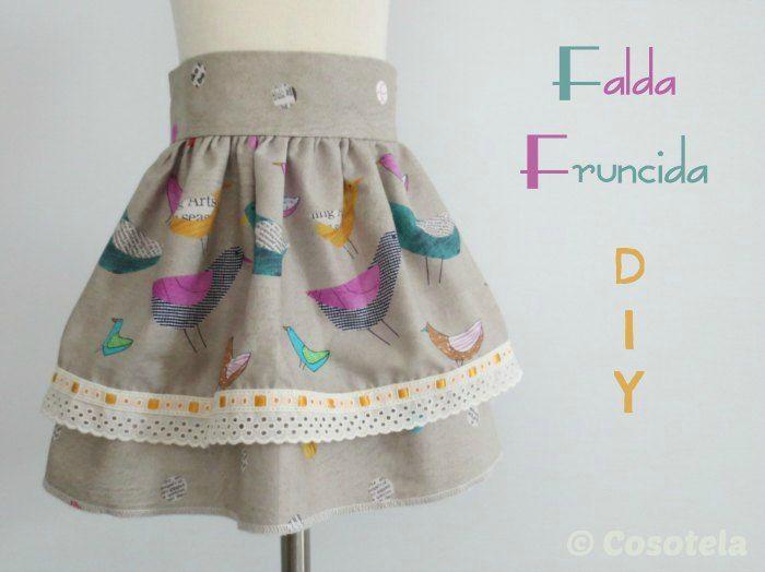 falda fruncida