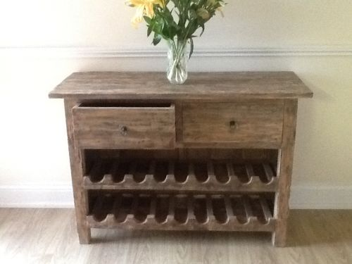 rustic two draw wine rack cabinet suitable for kitchens utilities or this rustic wine rack is a great addition to any home allowing for an