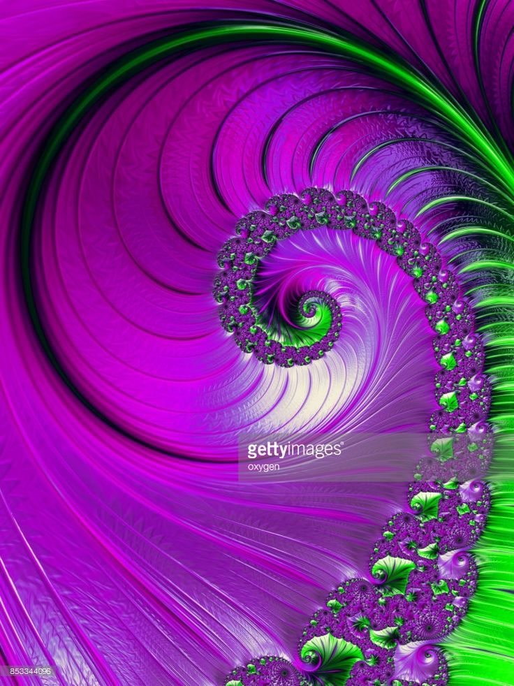 Pink and green Spiral abstract fractal pattern background. White spiral abstract background. Decorative concept by Oksana Ariskina on @gettyimages. #OksanaAriskina #Artworks #Abstract #Fractal #gettyimages #gettyimagescreative  #gettyimagesnew #Violet #Green