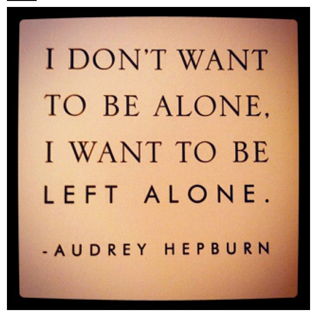 hahaha. Introversion at its finest :)