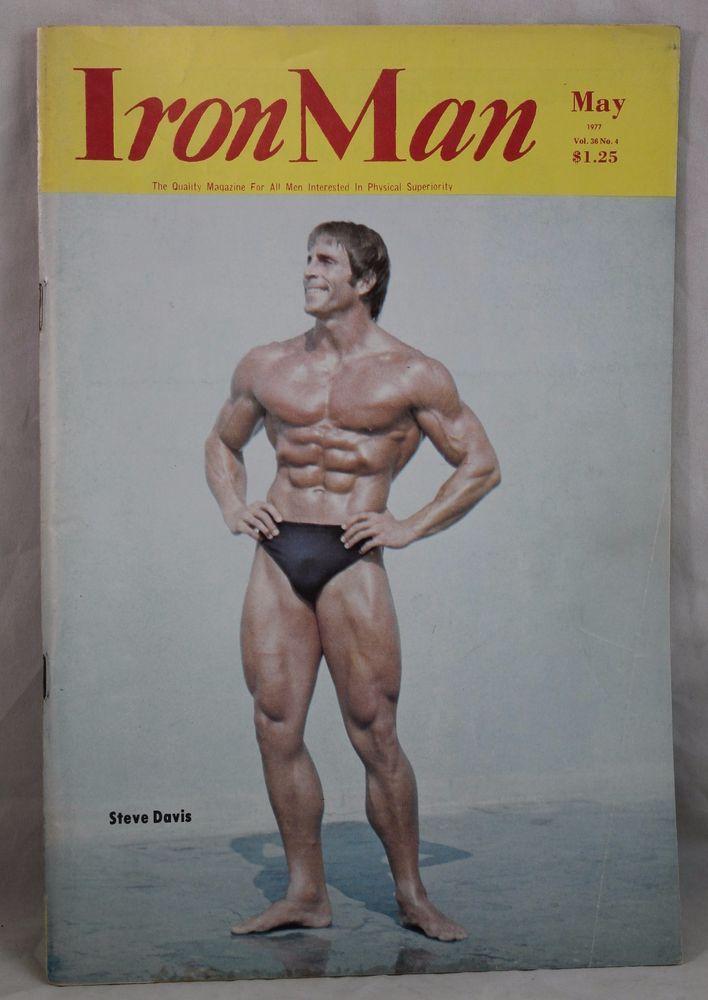 IRONMAN Body Building Muscle magazine STEVE DAVIS/ROY HILLIGENN Vol 36 #4 5/1977