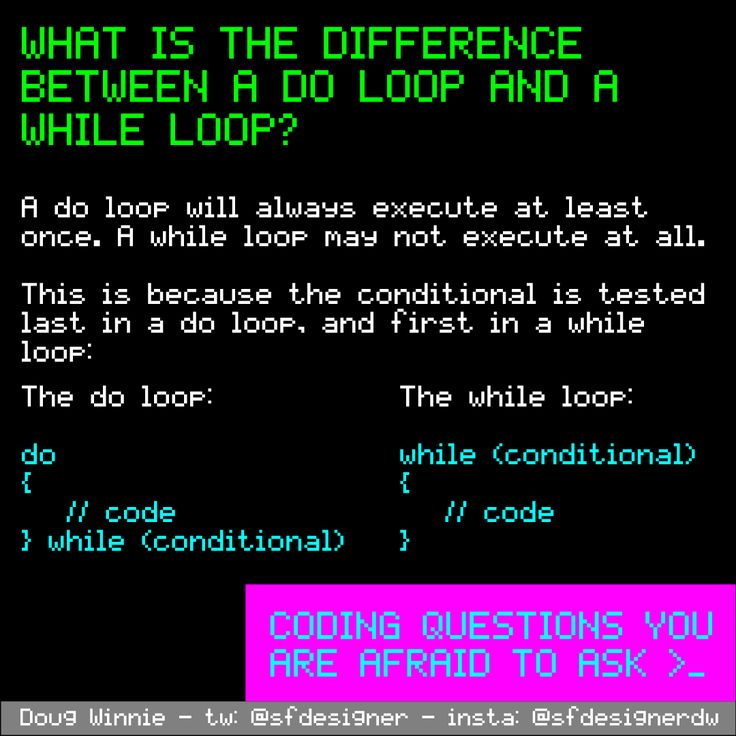 What is the difference between a do loop and a while loop? #coding #programming #questions #code