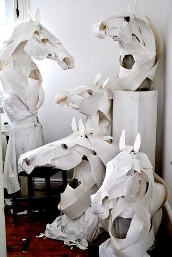 Horse mask (paper)