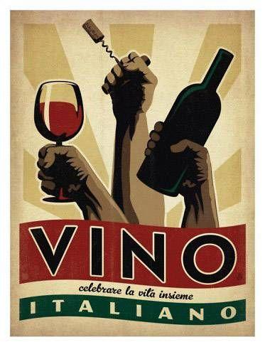 Vino italiano   Food and Beverage retro advert   Vintage food & drink poster   #Vintage #Retro #Posters #Affiches #Food #Drinks #Carteles #deFharo