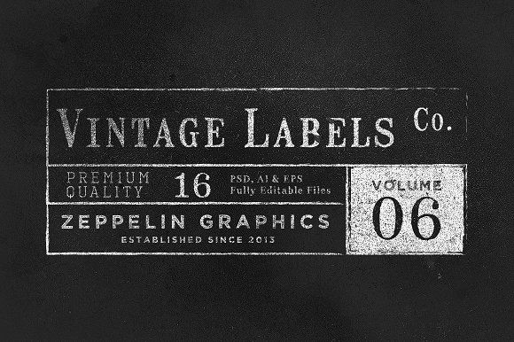 Vintage Labels & Logos Vol.6 by Zeppelin Graphics on @creativemarket