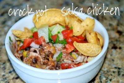 Frosted bake shop: Crock pot salsa chicken