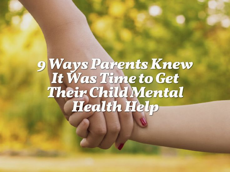 To learn more about how parents identify early signs of mental health issues, we teamed up with Mental Health America and asked parents when they knew it was time to get their child mental health care.