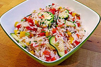 Sommerlich leichter Reissalat, ein schmackhaftes Rezept aus der Kategorie Vegetarisch. Bewertungen: 83. Durchschnitt: Ø 4,2.