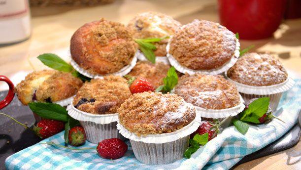 yabanmersinli yulaf kepeği kıtırlı kahvaltı muffinleri