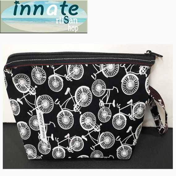 Cosmetic organizer bag by InnateArtisanShop on Etsy