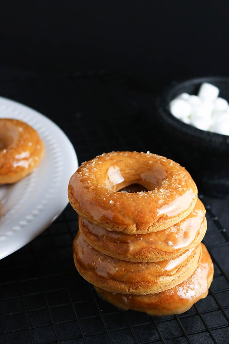 These Sweet Potato Donuts with Marshmallow Glaze are a fun, quick-to-prepare spin on the classic Thanksgiving casserole.