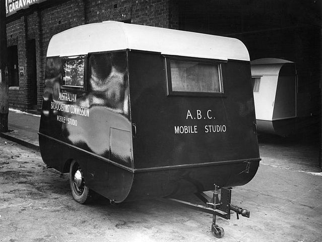 Caravan adapted as an ABC mobile studio to be used for concerts presented by the ABC at army camps and other locations. Equipped with a recording unit and recording and pick-up amplifiers. Could also provide accommodation for one person.  Date26 February 1940