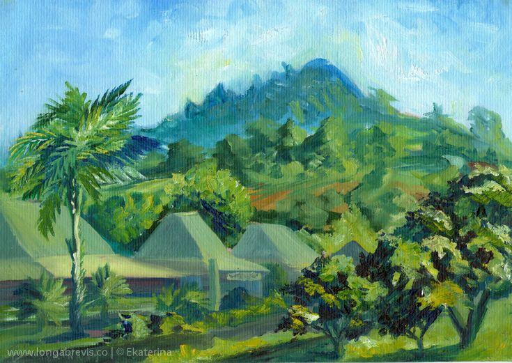 Impressionist Painting, Plein Air Painting of Coromandel New Zealand
