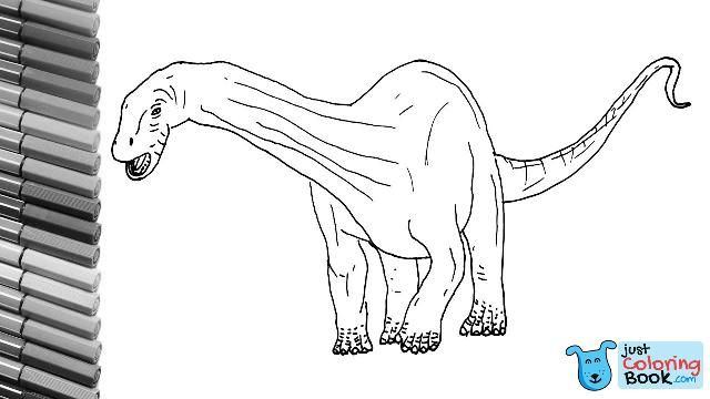 How To Draw Jurassic World Diplodocus Dinosaur Color Pages For