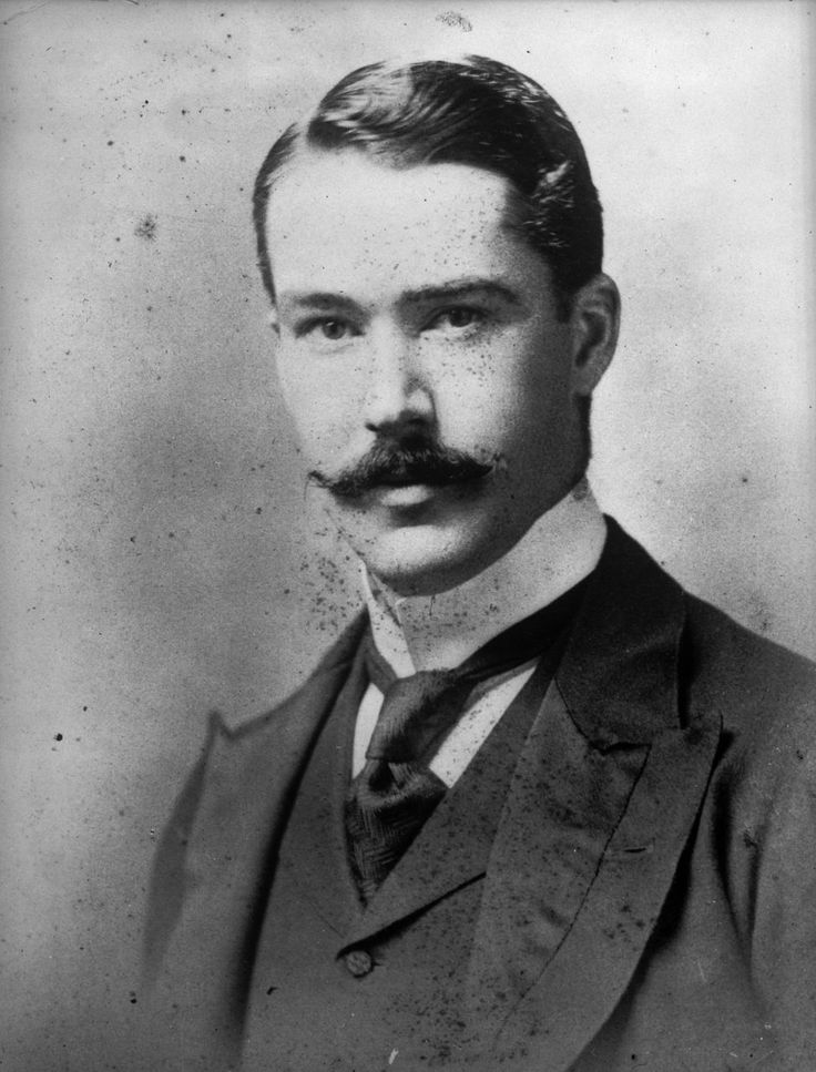 Alexander Horsburgh Turnbull, age 23, 1891. This New Zeland book collector amassed a library of 55,000 over his lifetime and somehow still found the time to groom an excellent moustache.