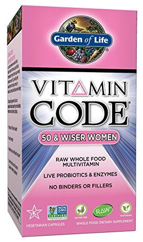 Garden of Life Vitamin Code 50 and Wiser Women's Multi, 240 Capsules * Read more reviews of the product by visiting the link on the image.